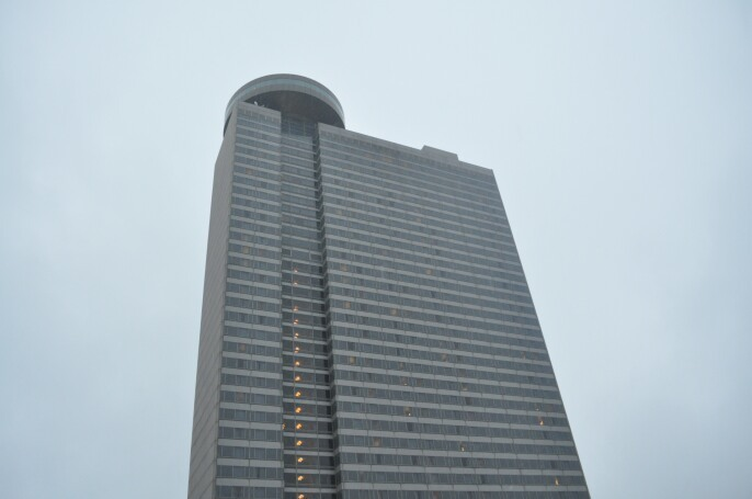 The Hyatt View from the pool ar