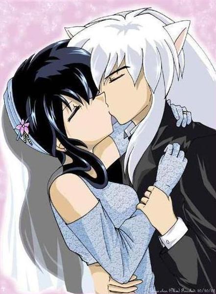 Kagome and Inuyasha Kiss