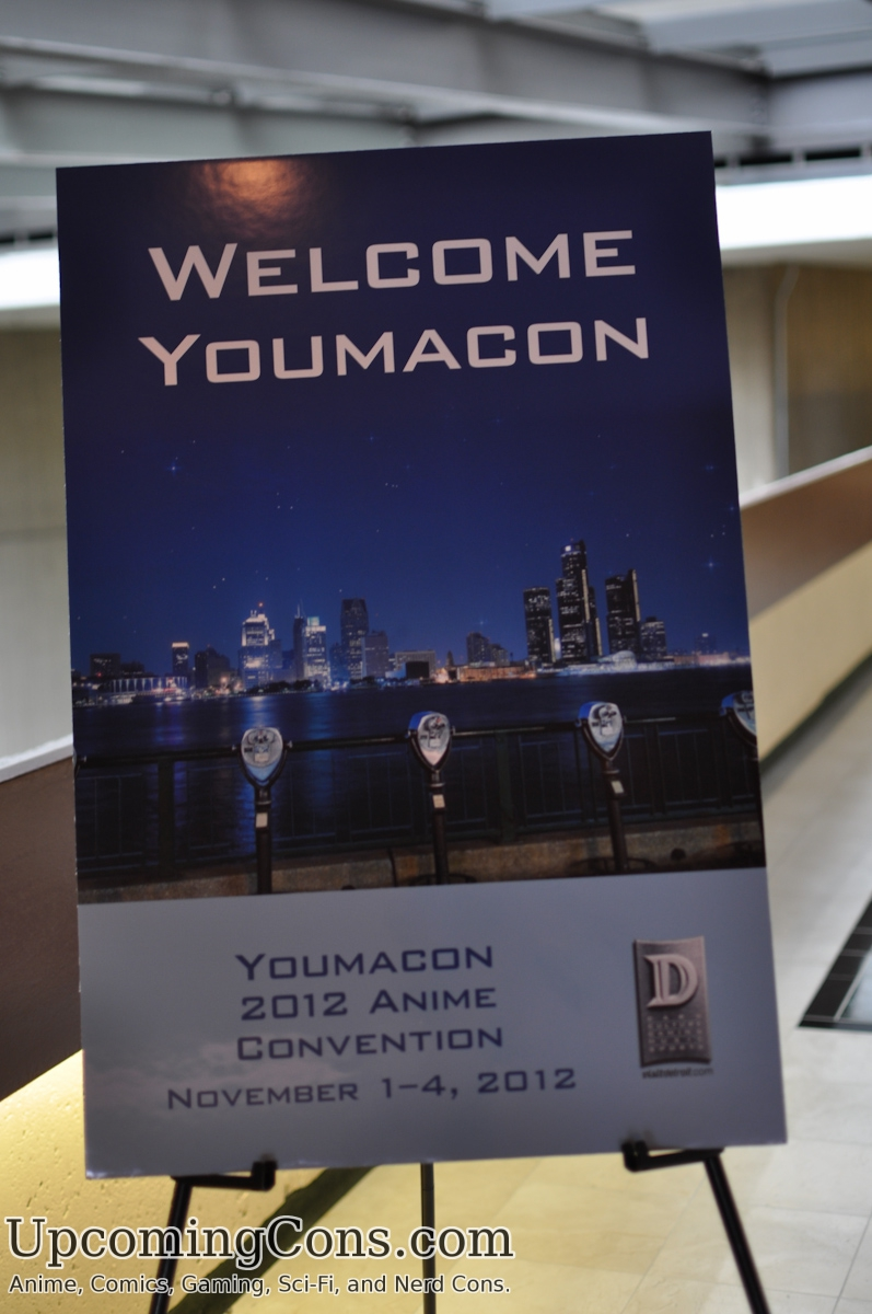 Youmacon welcome sign.