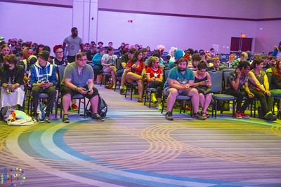 Audience at a convention.