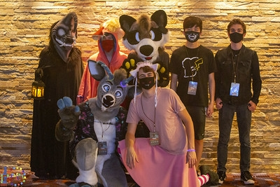 Cosplayers and furries as friends.
